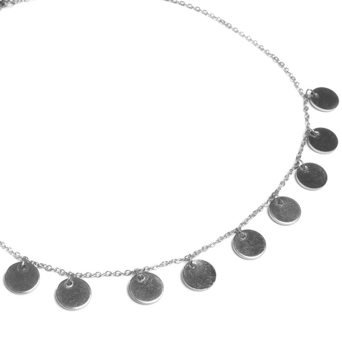 Collier avec cercles - argenté