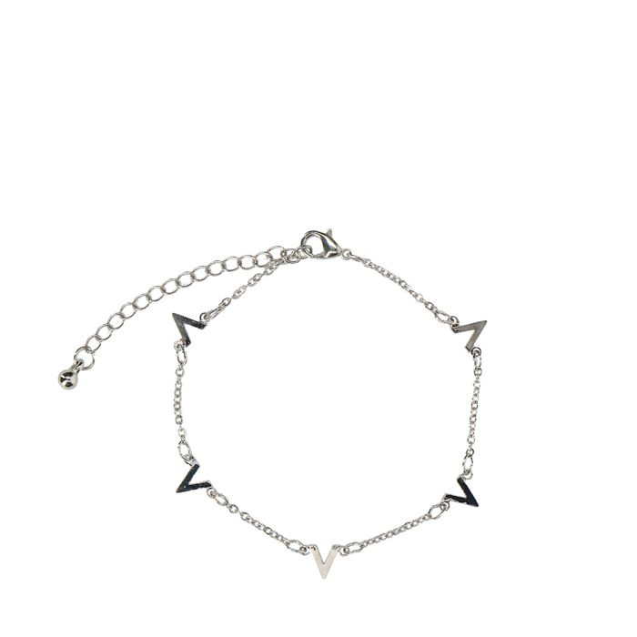 Bracelet avec V - argenté