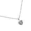 Collier avec pendentif en forme de cœur - argenté
