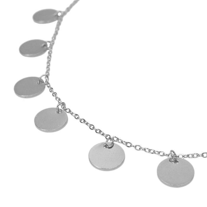 Collier avec pièces - argenté