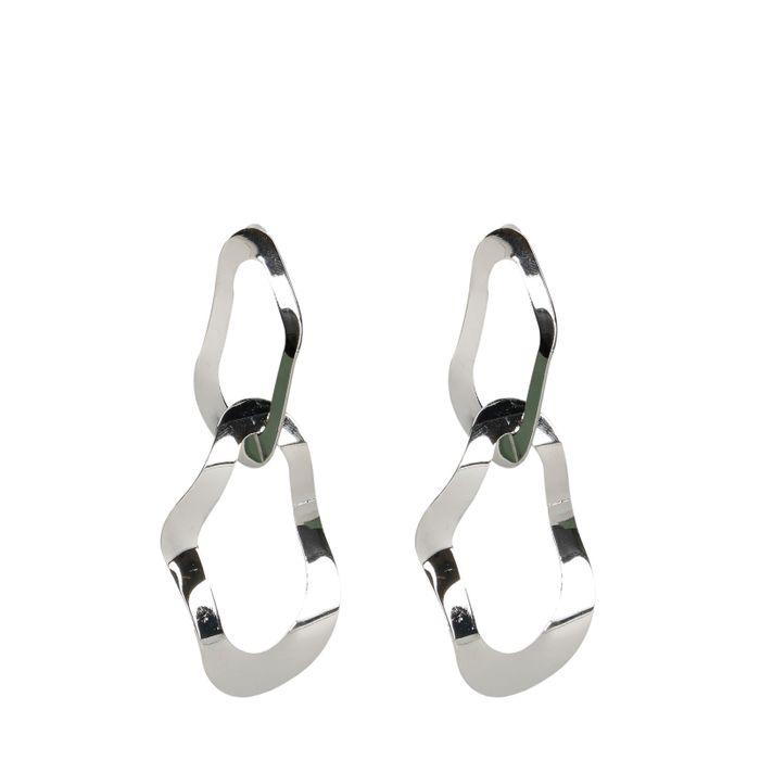 Boucles d'oreille avec deux anneaux - argenté