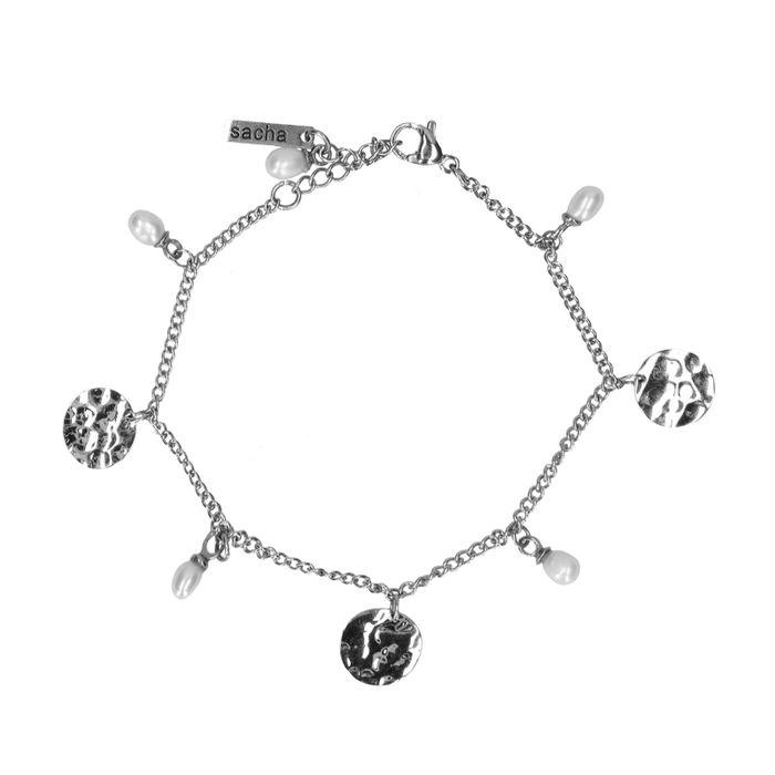Bracelet avec breloques - argenté
