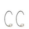 Boucles d'oreille avec perle - argenté