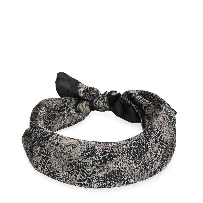 Sjaaltje met slangenprint beige