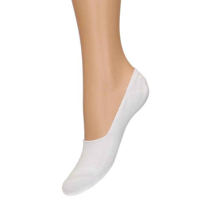 Socquettes pour baskets unisexe 3 paires - blanc
