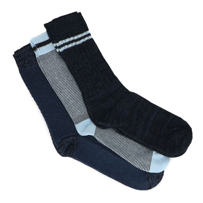 3er-Set blaue Socken