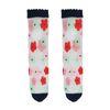 Durchsichtige blaue Socken mit Blumen