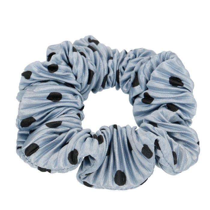 Blauer Scrunchie mit Punkten