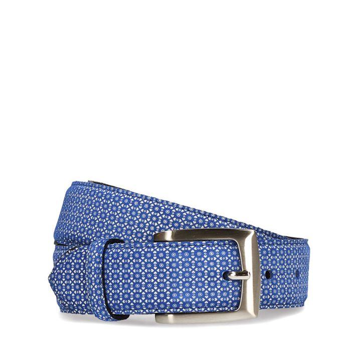 Blauwe riem met patroon