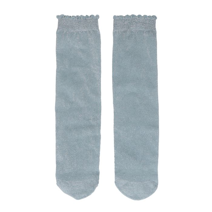 Blauwe glitter sokken