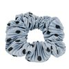 Blauwe scrunchie met stippen