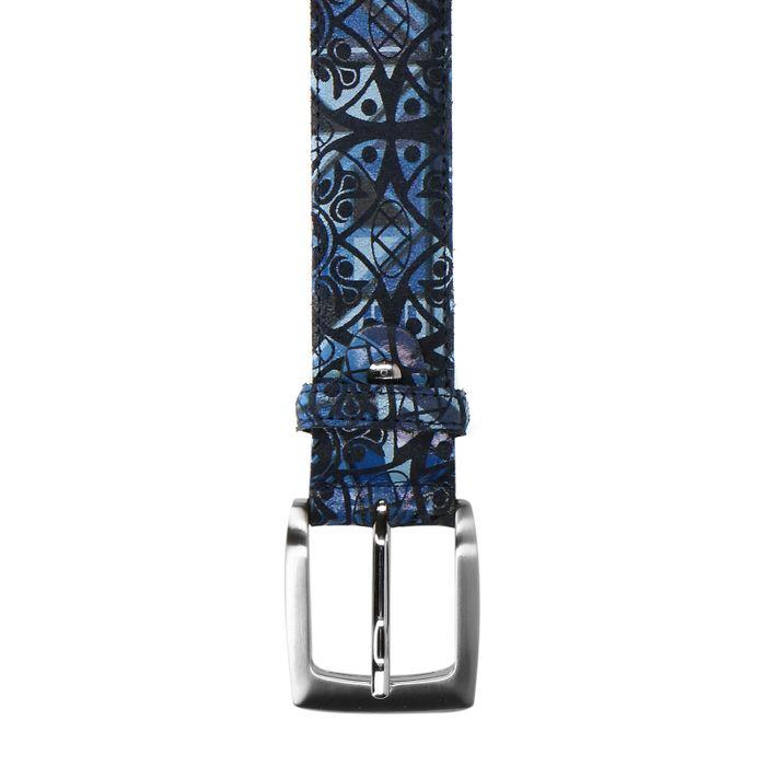 Ceinture avec imprimé azulejos - bleu
