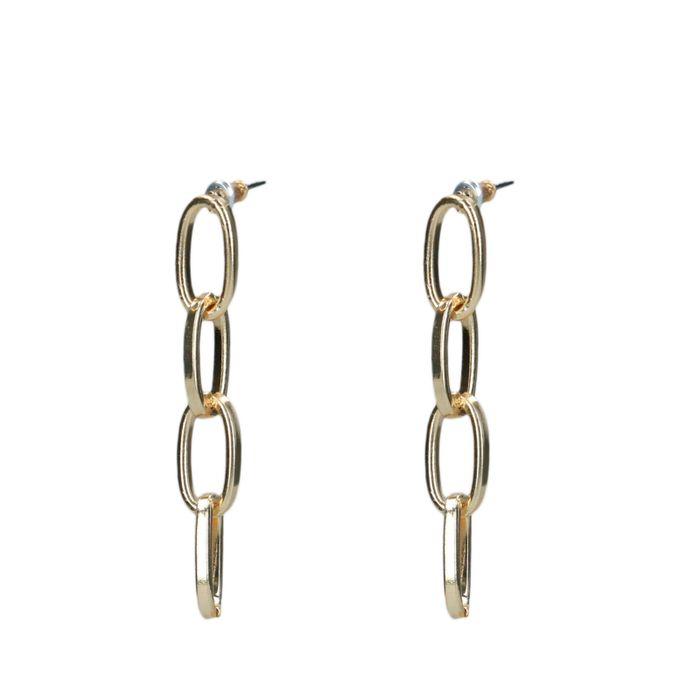 Goldene Glieder-Ohrringe