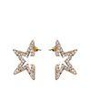 Goldene Sterne mit Steinchen