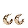 Goldene Statement-Ohrringe