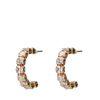 Goldene Ohrringe mit Steinchen