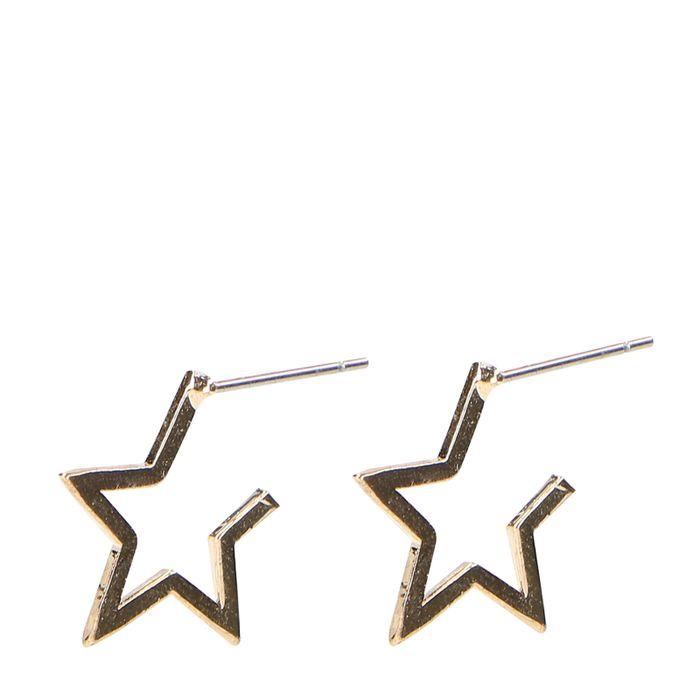 Goldene Stern-Ohrringe