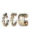 Goldfarbener Ear Cuff (3er-Set)