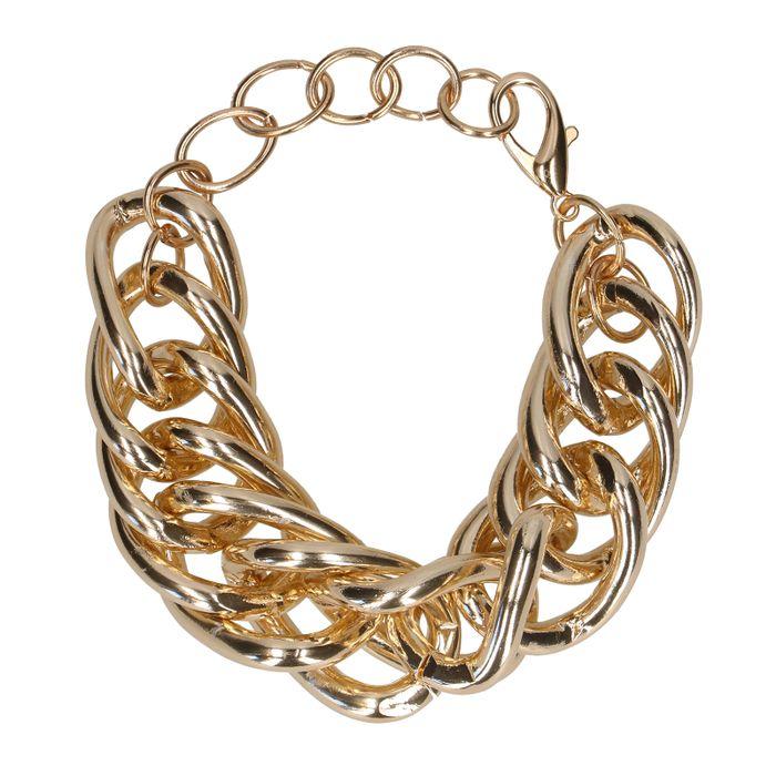 Goldfarbenes Gliederarmband