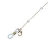 Goldfarbenes Sonnenbrillenband mit Perlen