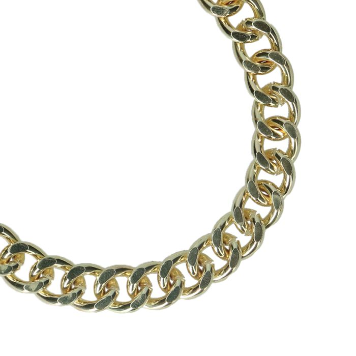 Grobes goldfarbenes Gliederarmband