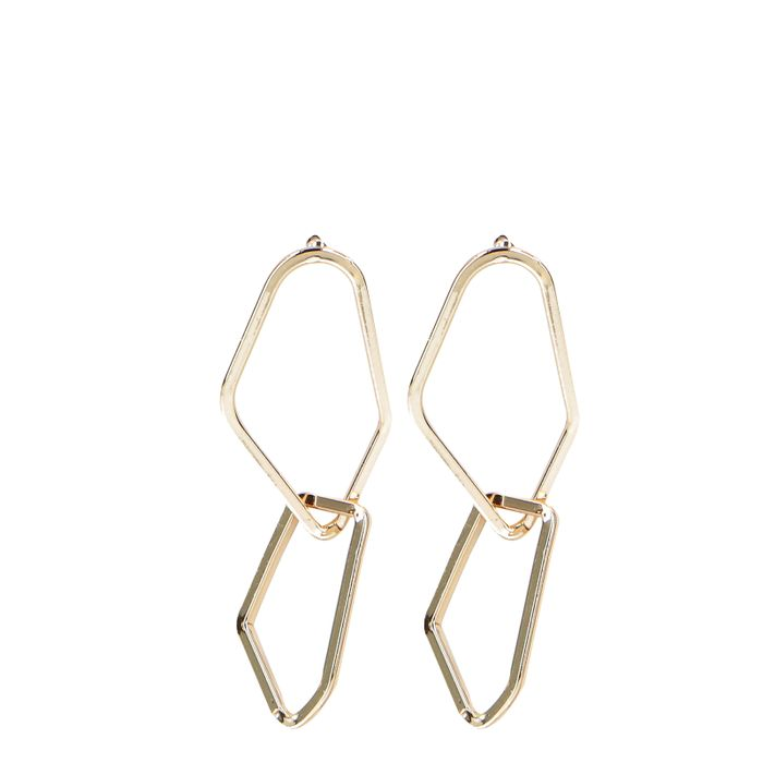 Asymmetrische goldfarbene Ohrringe