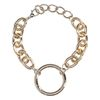 goudkleurige schakelarmband met ring