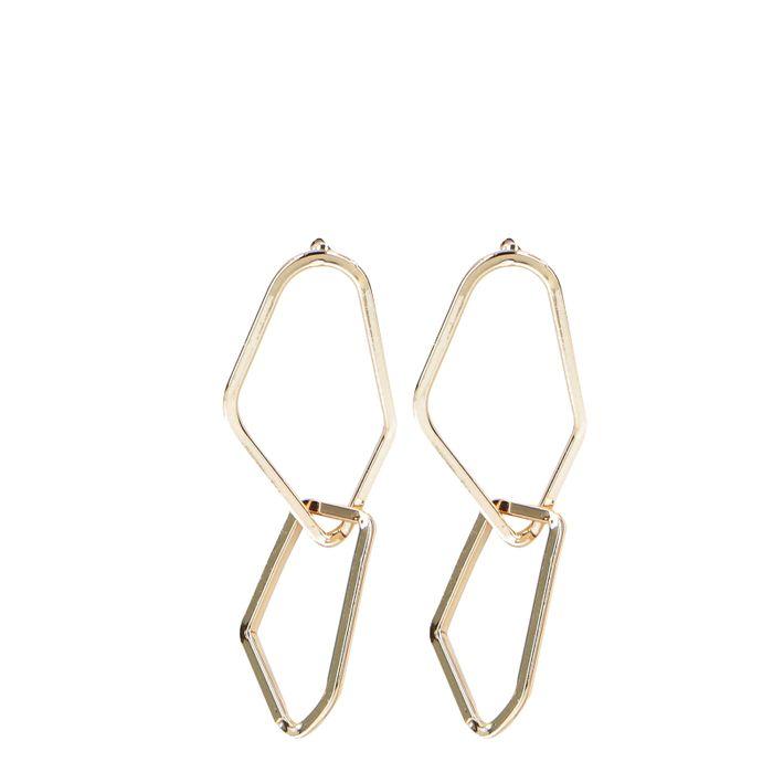 Asymmetrische goudkleurige oorbellen