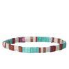 Mehrfarbiges Armband mit flachen Perlen