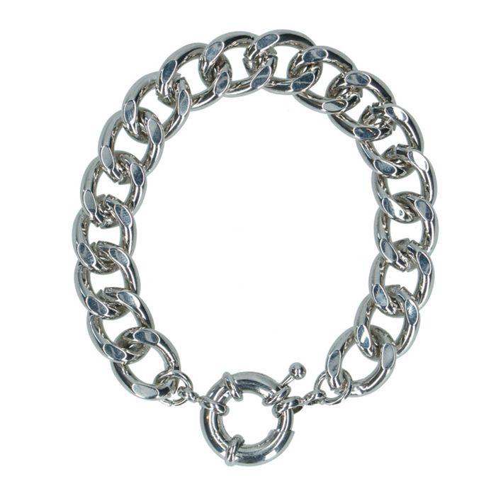 Silbernes Armband mit auffälligem Verschluss