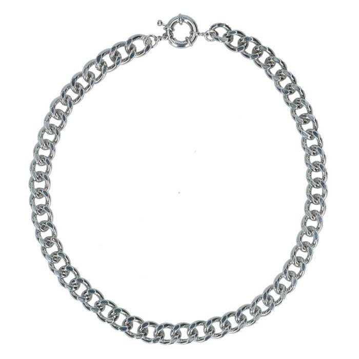 Silberne Gliederkette mit auffälligem Verschluss
