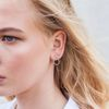 tropfenförmige Ohrringe silber