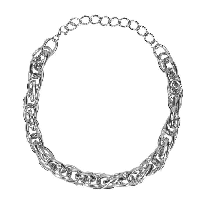 zilverkleurige gevlochten ketting