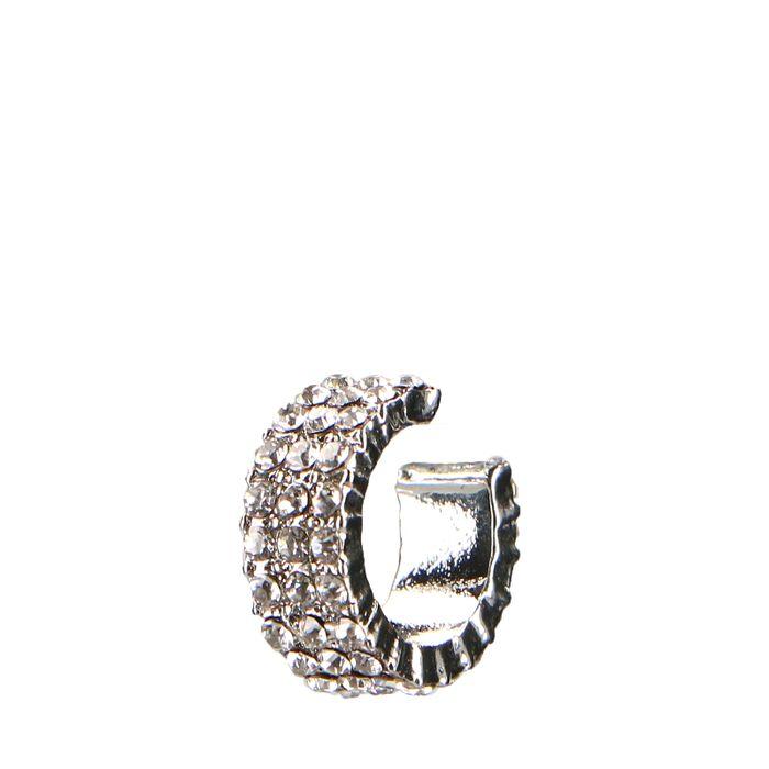 zilverkleurige ear cuff met steentjes