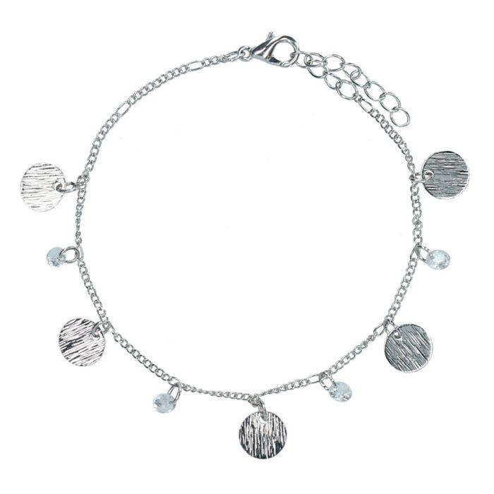 Zilverkleurig armbandje met muntjes