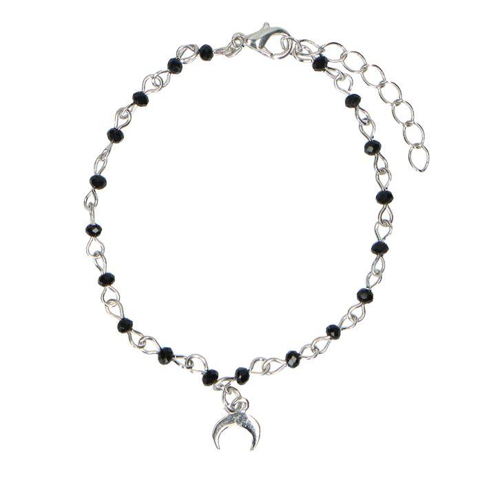 Zilverkleurig armbandje met bedel