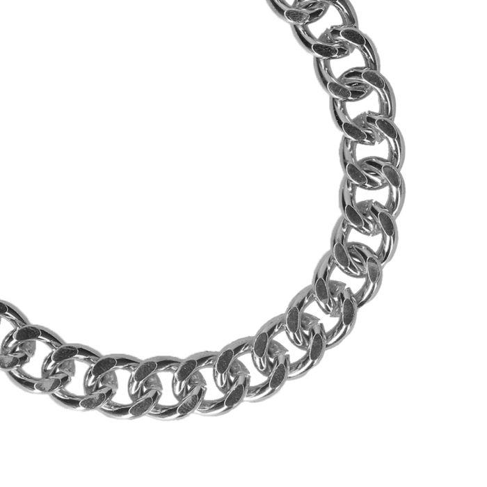 Grove zilverkleurige schakelarmband
