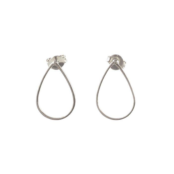 Minimal druppel oorbellen zilver
