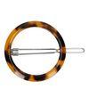 Runde Schildpatt-Haarspange dunkelbraun