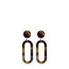 Schildpatt-Ohrringe dunkelbraun