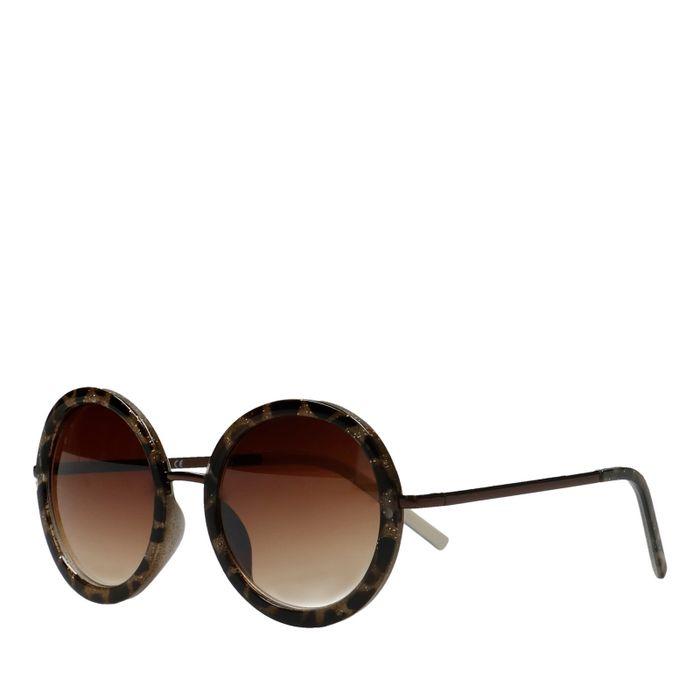 Runde Sonnenbrille mit Leoprint