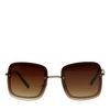 Bruine zonnebril met ketting