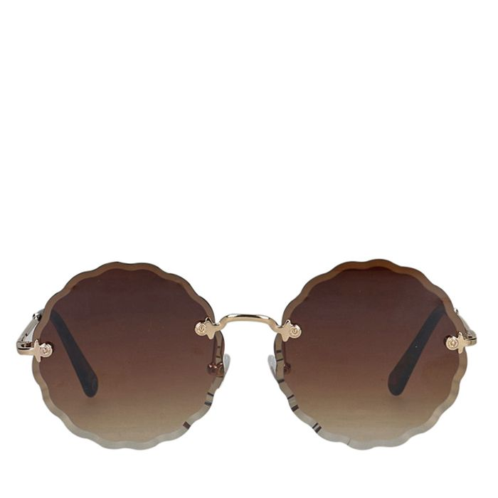 Bruine ronde zonnebril