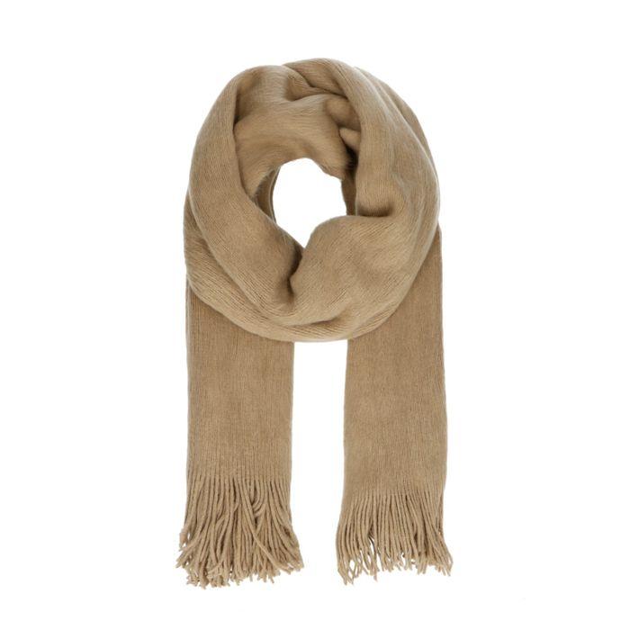 Beige hairy sjaal
