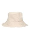 Beige canvas bucket hat