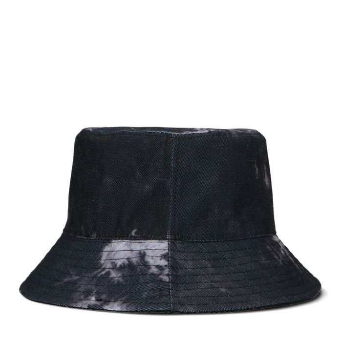 Reversible bucket hat tie dye en zwart
