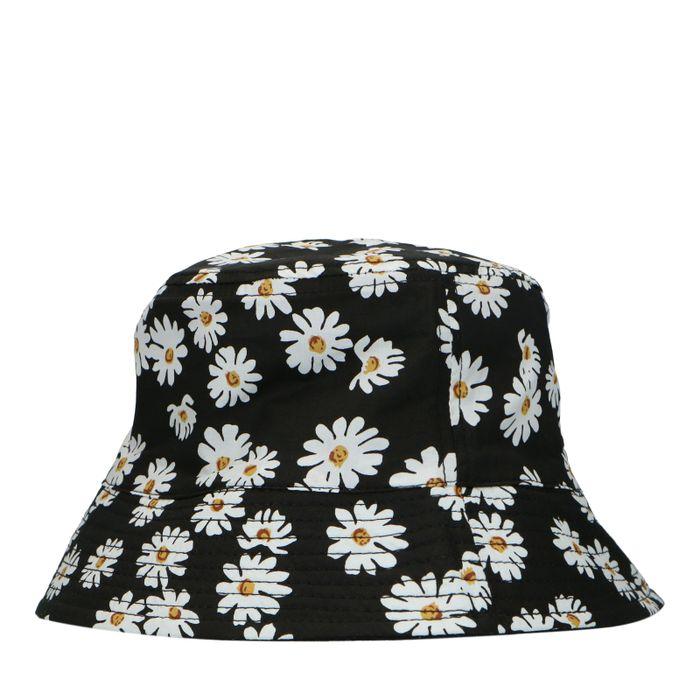 Reversible bucket hat met madeliefjes