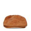 Cognac rib flat cap