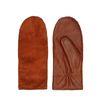 Moufles en daim et cuir - marron