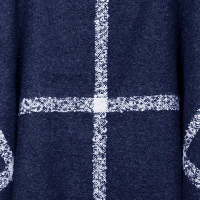 Donkerblauwe poncho met col
